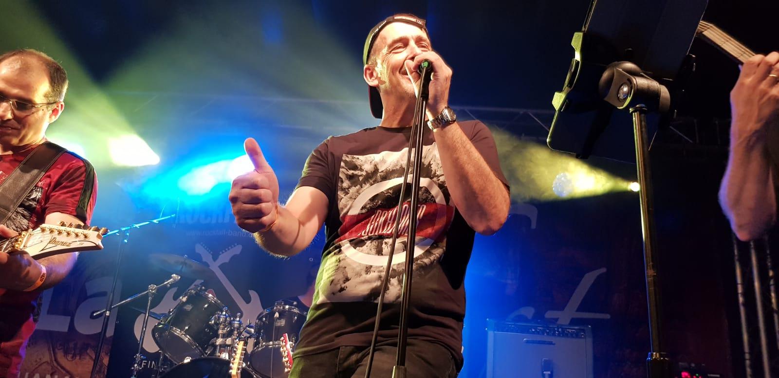 Rockfall Band Lamboyfest 2018: Thumbs up, Rudi!