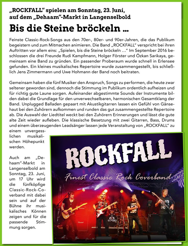 Rockfall auf dem Dehaam-Markt in Langenselbold am 23.06.2019